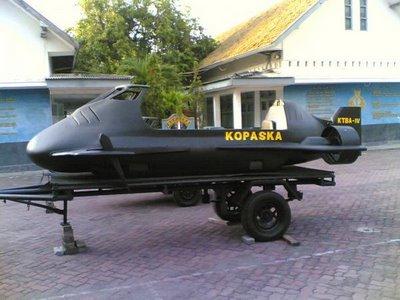 Kendaraan tempur bawah air (ktba) buatan indonesia