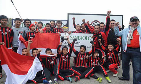 Milan Junior Camp Indonesian team, champions Milan Junior Camp Day Tournament in Italy