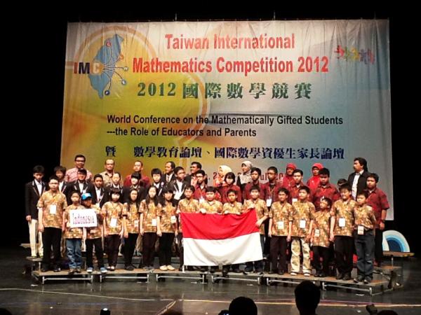 Pelajar Indonesia Raih 2 Emas di Taiwan International Mathematics Competition (TAIMC) 2012, Taipei