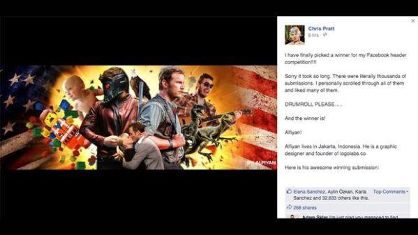fb Chris Pratt di indonesiaproud wordpress com