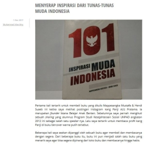 menyerap inspirasi 101 tunas muda indonesia